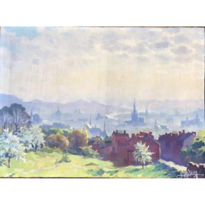 Henri Habsch, View From Liege 1949