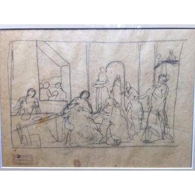 André Derain : Dessin à l'Encre Sur Papier Calque. Vente Knaublich.