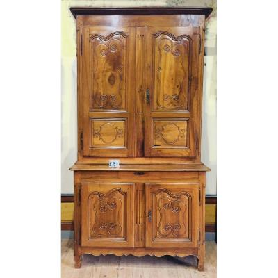 Sideboard With Two Bodies In Walnut Auvergne