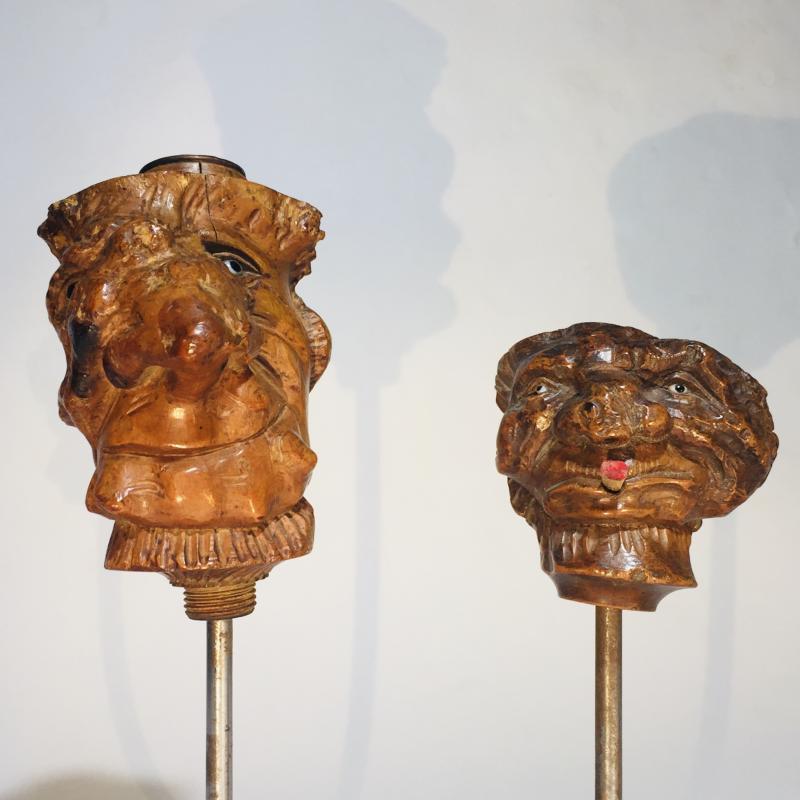 Fourneaux De Pipes En Racine De Bruyère Sculptée En Têtes De Grotesques -photo-2