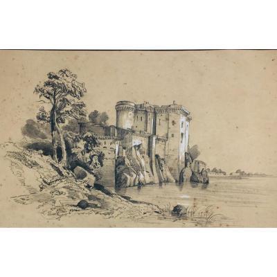 Dessin Tarascon Bouches-du-rhône 1850