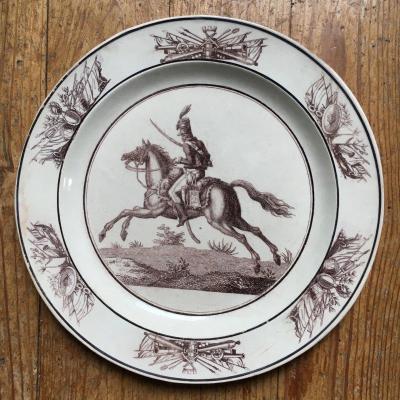 Fine De Sèvres Earthenware: Hussar Decor Plate