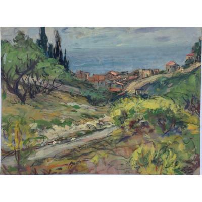 Paysage Provençal Par Paul Paquereau