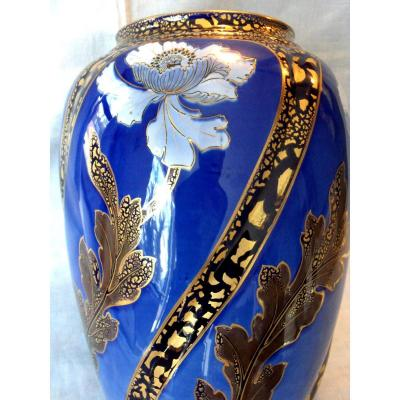 Large 1900 Vase By Keller And Guerin In Luneville, Galle Limoges Period