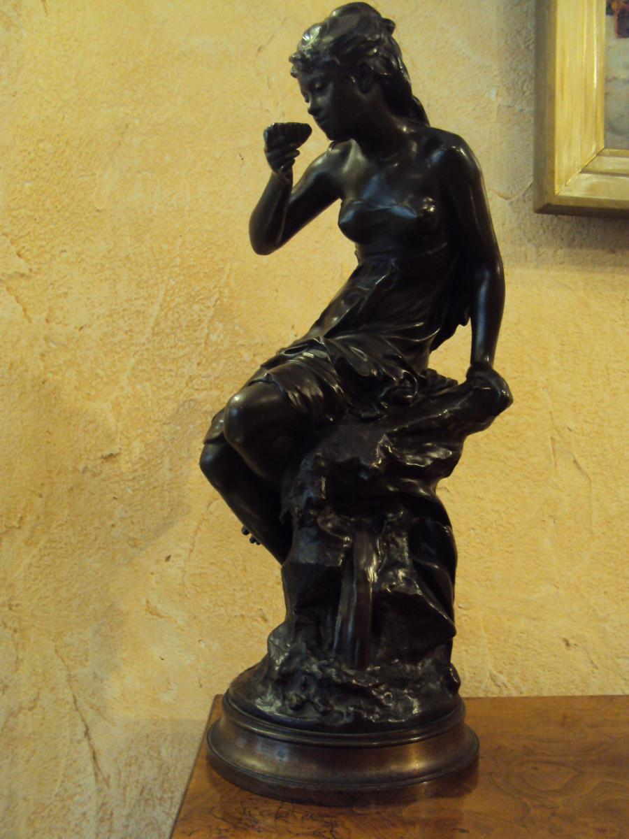Mathurin Moreau Bronze La Source