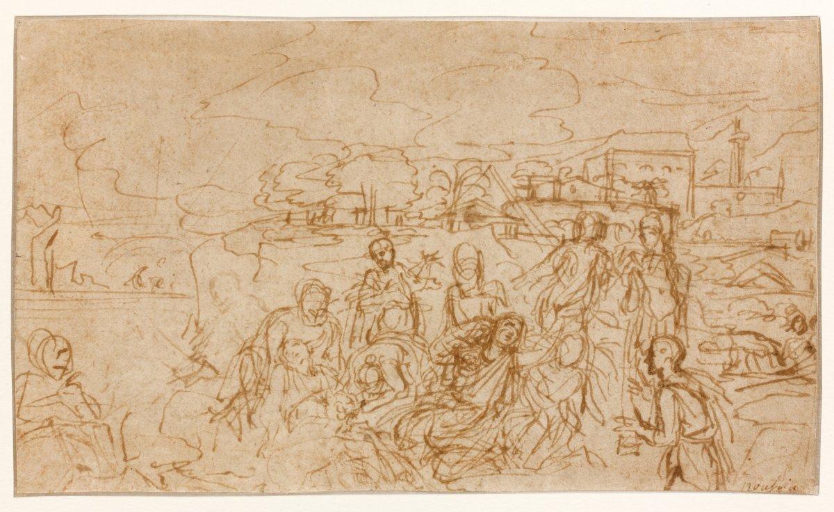 Michel Corneille II (1642 - 1708) - Zénobie retrouvée sur les bords de l'Araxe