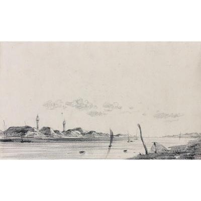 Henri Brunet: View Of A Marine Coast