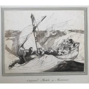 John Hamilton Mortimer (1741-1779) : Bateau Dans La Tempête