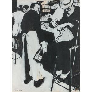 Georges Kars (1882-1945) : Projet Pour L'affiche Publicitaire De Henkell Trocken Stollwerck