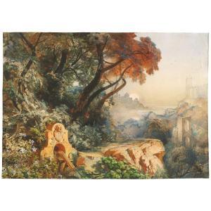 Heinrich Goedeking (1837-1911) : Vue De Castel Gandolfo