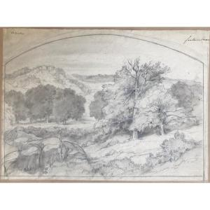 Eduard-françois Bertin (1797 - 1871) : Vue Des Rochers De Fontainebleau