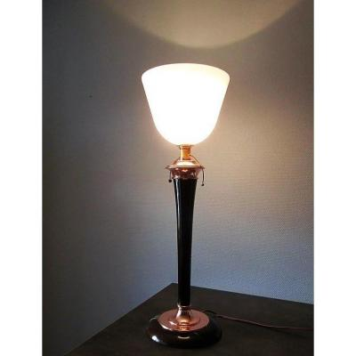 Lampe Art Déco Mazda    H 75 Cm