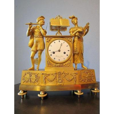Pendule  Bronze  Au Troubadour