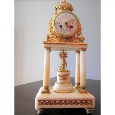 Pendule A  Colonne  De Style Louis XIV  Napoléon III