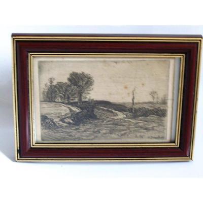 Dessin  de   Louis JOURDAN (1872-1948 )  Peintre Des Dombes   Bourg En Bresse