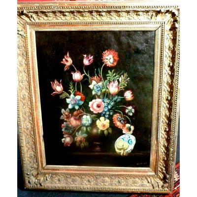 Nature Morte Aux Fleurs XIXème