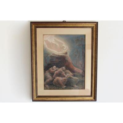 "Giovanni ""Vanni"" Rossi (Ponte San Pietro 1894 - Milan 1974), Jésus Dans Le Jardin De Gethsémani"