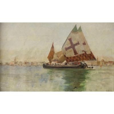 Vincenzo Caprile (Naples, 1856 - Naples, 1936), Grand Canal De Venise