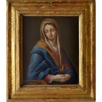 Francesco Trevisani (koper, 1656 - Rome, 1746) Cercle De, Madonna Dans La PriÈre