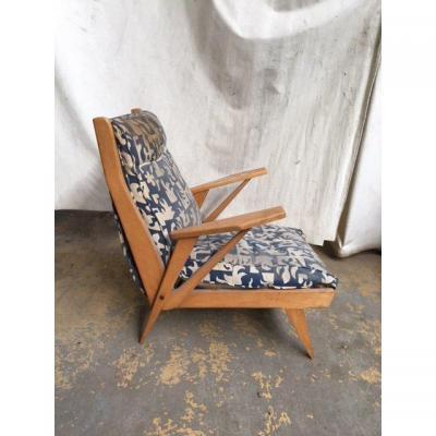 fauteuil an 50 en hêtre