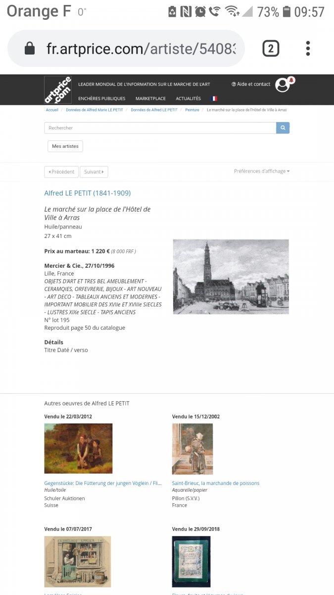 Alfred LE PETIT (1841-1909) Paris Le pont au Change marché aux fleurs huile sur panneau 1904-photo-8