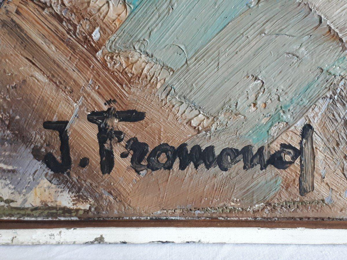 Jacques FROMONOT (1926-2014) huile sur panneau nature morte au bouquet de fleurs 1960 milieu 20ème-photo-5