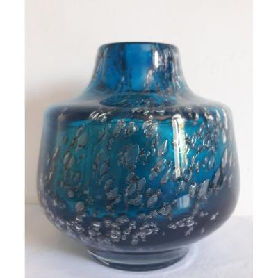 Murano Bubble Inclusions Glass Vase