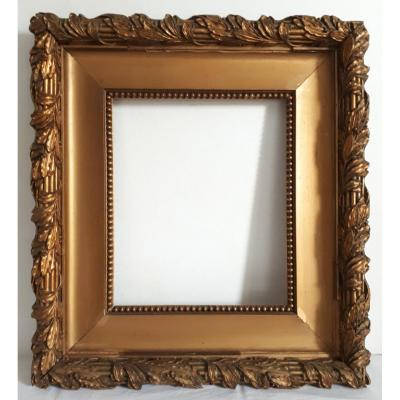 Antique Frame In Wood And Gilded Stucco Louis XVI Style 19th