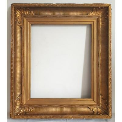 19th Gilded Wood Channel Frame 8f Format