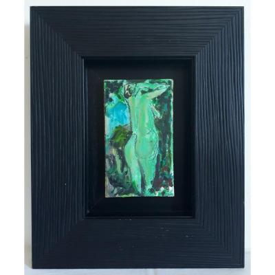 Hervé Fayel Oil On Panel Female Nude Frame American Box