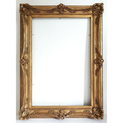Cadre style Louis XV en bois doré XIXème