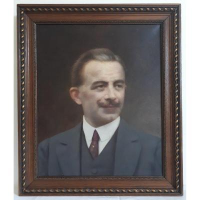 Auguste RAYNAUD (1854-1937) huile sur toile portrait d'homme