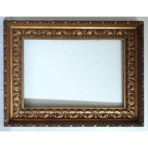Cadre en bois doré 19ème format 10P pour tableau 55 X 38 cm