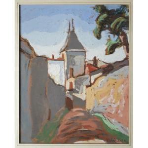 Michel Petrovitch KRETILINE (né en 1875) Ecole russe gouache paysage