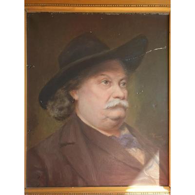 Tableau,huile Sur Toile,homme Barbu,xxeme,portrait,victor Dumont,peinture