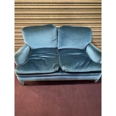 Pair Of Velvet Sofa From The 50s In The Style Of Jean Royer The