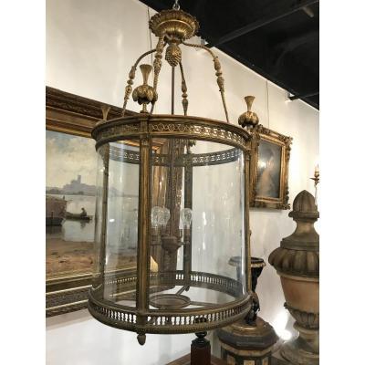 Lanterne En Bronze Louis XVI