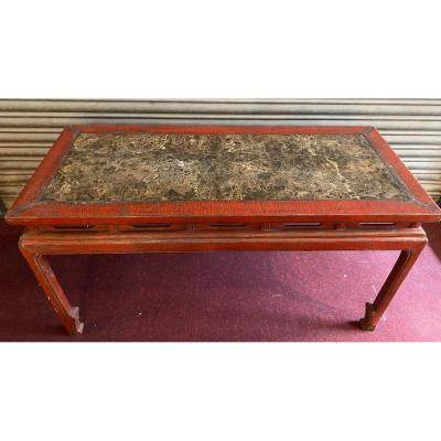 Important Chinese Lacquered Middle Console