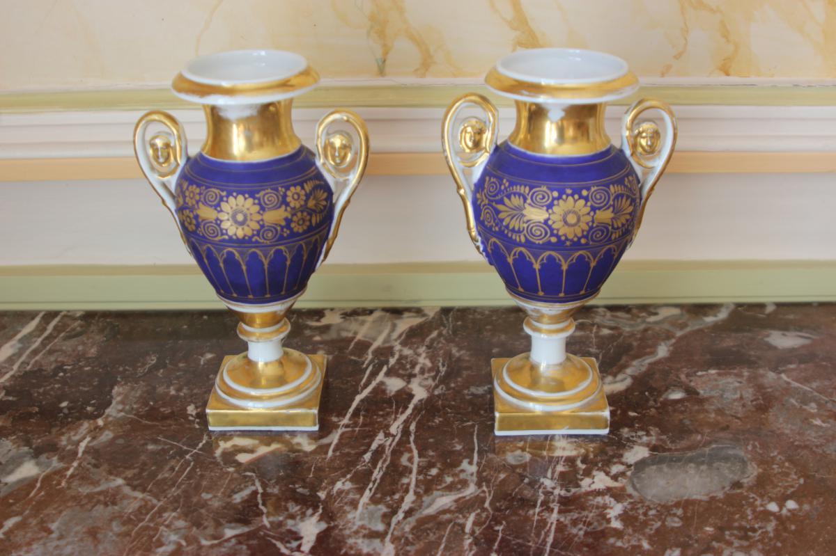 Paire de Vases Balustre d'Epoque Restauration