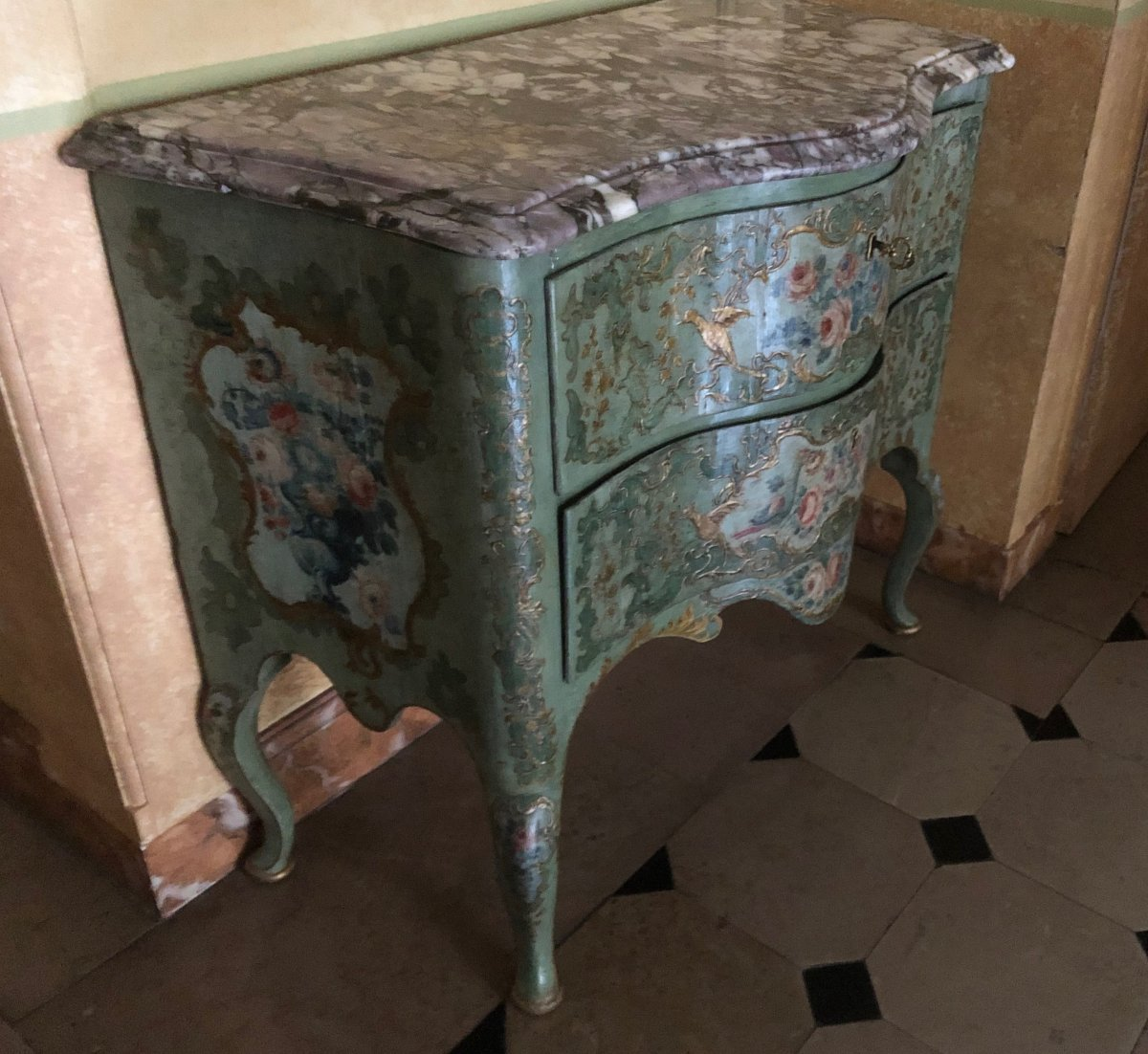 Chest Of Drawers Painted Italy Circa 1750-photo-2