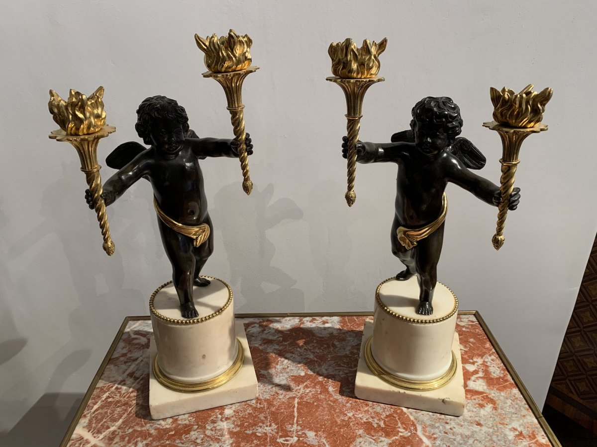 Pair Of Winged Putti