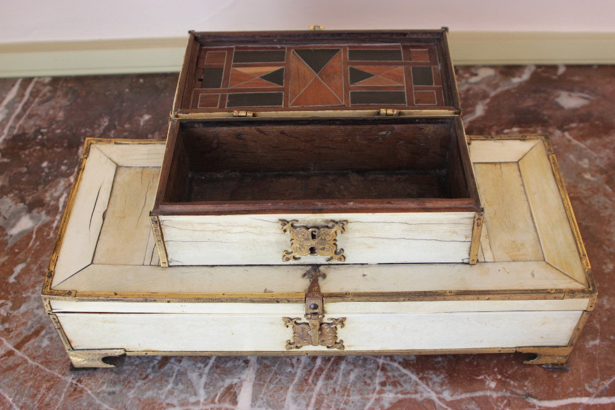 Double Ivory Box From The Beginning Of The 16th Century-photo-3