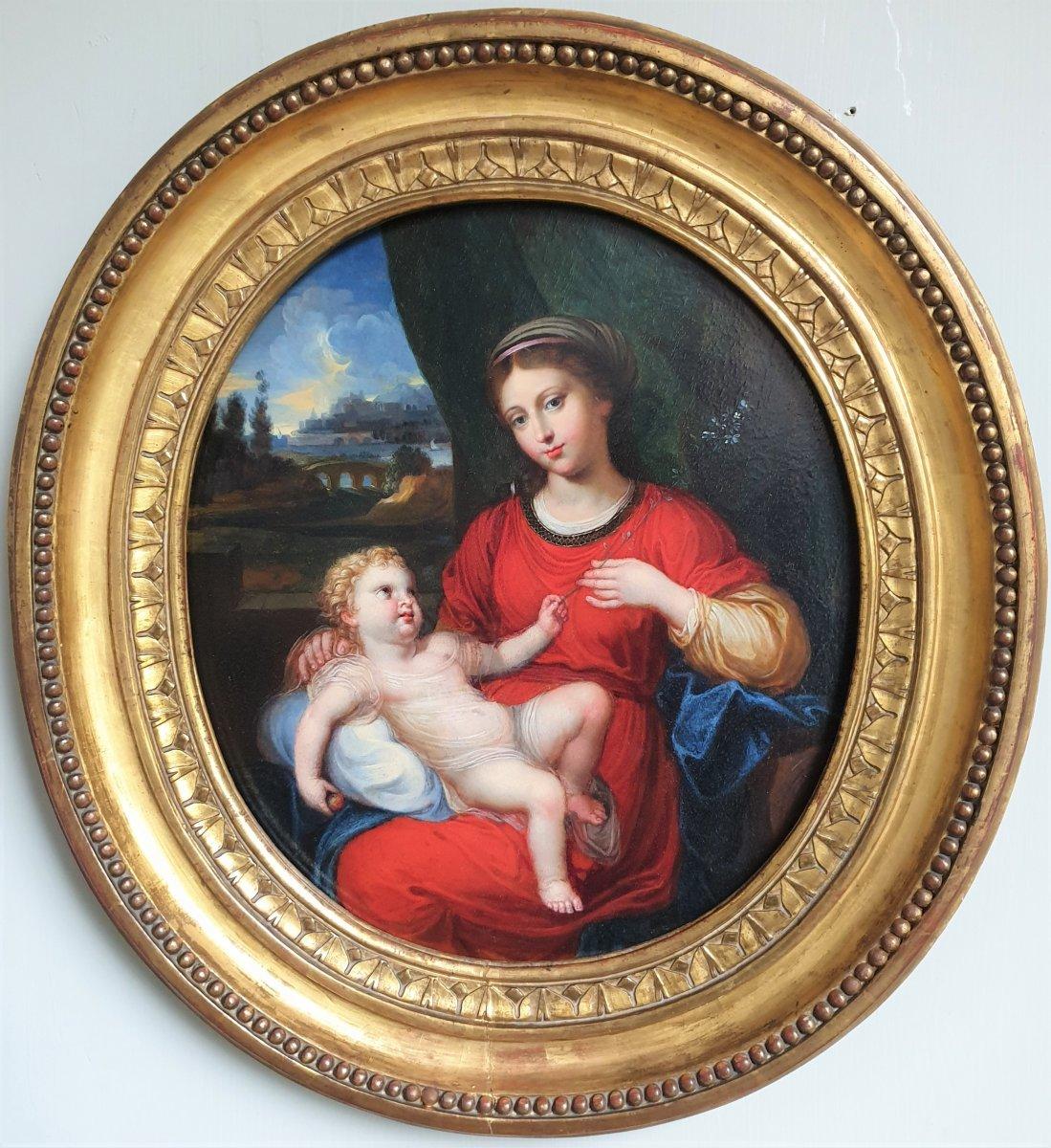 Virgin And Child, Around 1700