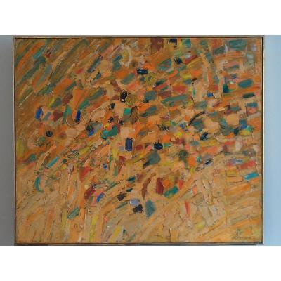 """Abstraction """"jaune"""" Par Jacques Germain"""