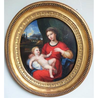 Vierge à l' Enfant, Suiveur de Nicolas LOIR , Vers 1700