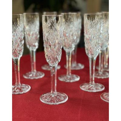 """10 Flûtes à Champagne Saint Louis """"florence"""""""