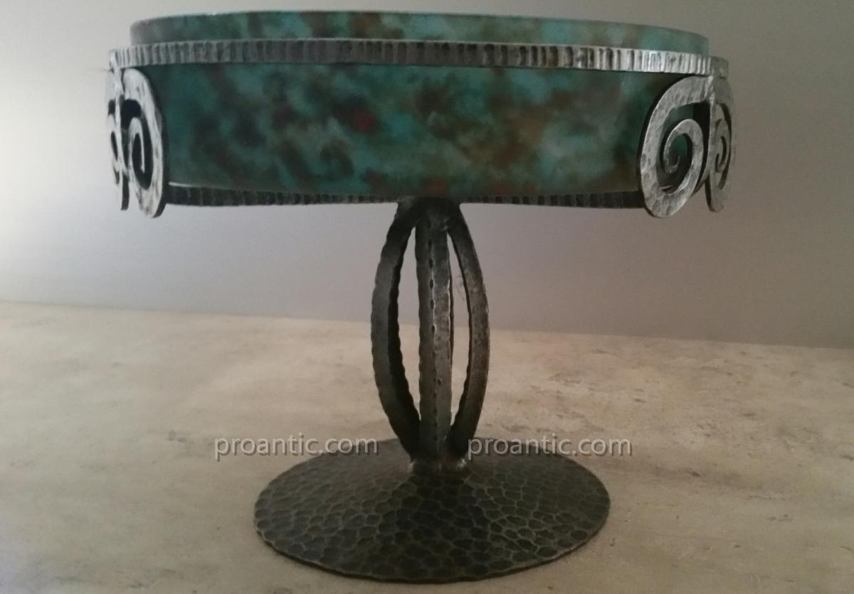 Cup Mounted On Wrought Iron