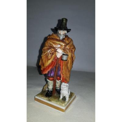 Porcelain statuette of the Royal Manufacture of Capodimonte.&nbsp; Naples.<br />