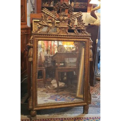 Miroir à Fronton Louis XVI