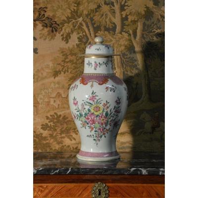 Grande Potiche En Porcelaine De Chine